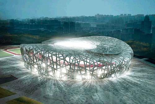 """北京/""""鸟巢"""",是2008年北京奥运会主场馆和标志性建筑,因其形如..."""