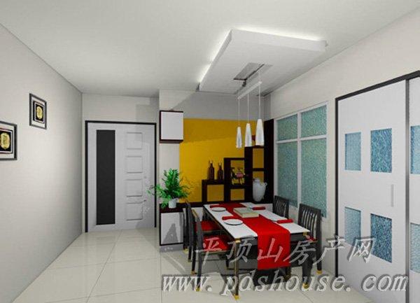 小户型客厅连餐厅设计
