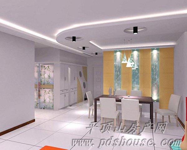 小戶型客廳連餐廳設計-平頂山房產網-平頂山商都房產