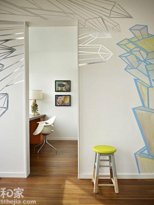 灵活多变的手绘墙,最能描绘出你想要的个性效果.