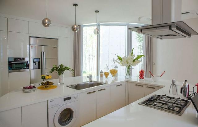 厨房放洗衣机装修图